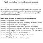 Photo Gallery Of Ultrasound Application Specialist Cover Letter ...
