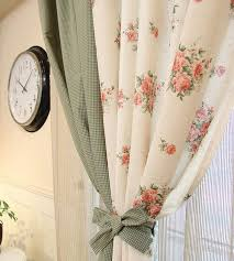 Rideau en fenêtre grande fleur tissu de coton lin, tissus pour rideaux ...