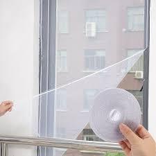 new diy door window gauze net mesh netting insect fly bug screen curtain mosquito net protector white tulle magic tape mosquito lantern mosquito net window