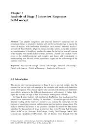 analysis of stage interview responses self concept springer inside