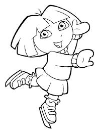 Kleurplatenwereldnl Gratis Dora The Explorer Kleurplaten