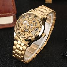 Men's Watches Top Brand Luxury <b>Skeleton Dial Automatic</b> ...