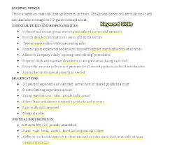 Bartender Job Description Resume Free For Download Server Server
