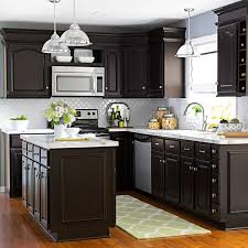 Fine Dark Kitchen Cabinets Colors For Inspiration Decorating
