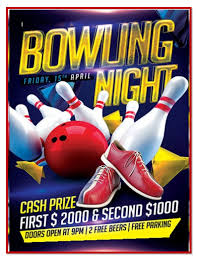 Bowling Event Flyer Template Bowling Game Flyer Templates Free Template Downloads