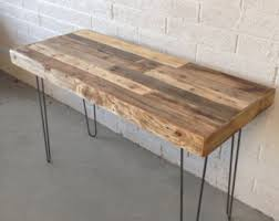reclaimed wood office. Reclaimed Wood Modern Steel Hairpin Leg Desk Work Table Laptop Station Recycled Metal Small Dorm Large Office