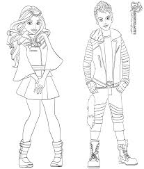 Carlos And Evie Coloring Page From Descendants 2 Characters Get
