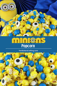 minions popcorn is both fun and delicious sweet and salty popcorn mixed with m m candy