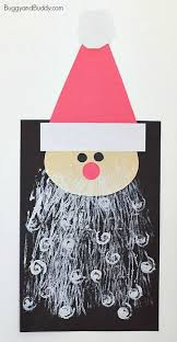 <b>Santa</b> Craft for Kids with <b>Printed</b> Beards - Buggy and Buddy ...