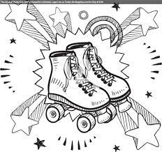 Roller Skates Excitement Sketch Broderie Pinterest Patin