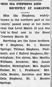 Obituary for IDA STEPHENS - Newspapers.com