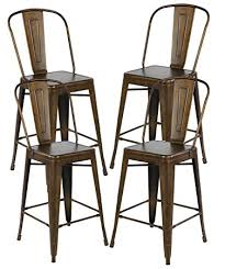 metal counter height stools. Amazon Com 26 Inch Industrial Distressed Metal Counter Height Bar With Stools Design 2 \