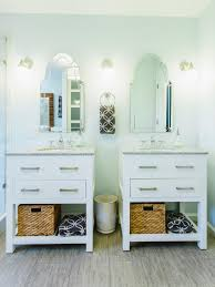Used Bathroom Sinks Two Single Vanities Were Used To Give The Owners A Double Vanity