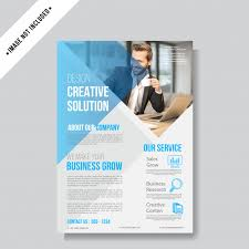 How To Make A Business Flyer Business Flyer Layout Background Template Vector Premium