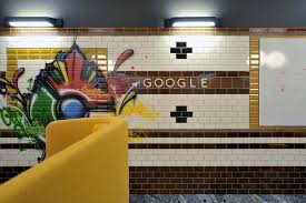 subway tile google sign check google crazy offices