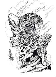 japanese tiger tattoo drawing. Fine Drawing 100 Japanese Tattoo Designs I By Jack Mosher Aka Horimouja  Google Search Throughout Tiger Drawing I