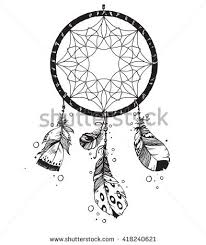 What Native American Tribes Use Dream Catchers Hand Drawn Vector Native American Indian Stock Vector 100 8