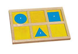 Geometric Cabinet Control Chart Sensorial Geometry Montessori Materials 4 Sale