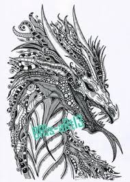 coloring pages coloring zenzia drache made by bri zendoodle