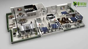 modern office plans. 3d Office Floor Plan 2d Site Design Modern Plans