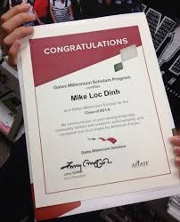 applying to the gates millennium scholarship the word winner of 2014 mike loc dinh