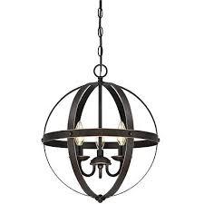 modern farmhouse chandelier candle style orb pendant 3 light rustic globe lamp