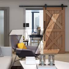 TL Antique Design Single Door Kit Sliding Barn Door Hardware ...