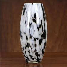elegant drip hand n murano style art gl vase in black and white memorable gifts