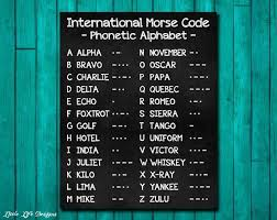 Phonetic alphabet lists with numbers and pronunciations for telephone and radio use. Internationalen Morsecode Sign Phonetische Alphabet Etsy Phonetic Alphabet Morse Code International Morse Code