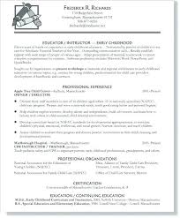 Child Education Resume Examples Feat Director Of Religious Education Fascinating Resume Education Example