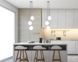 Island lighting for kitchen Bronze Modern Kitchen Lighting Light Cluster Any Colors Unique Kitchen Island Lighting modern Style Led Bulbs Three Light Pendant Etsy Island Lighting Etsy