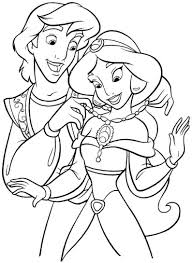 free printable coloring pages of disney princesses to print 10 j princess jasmine and aladdin