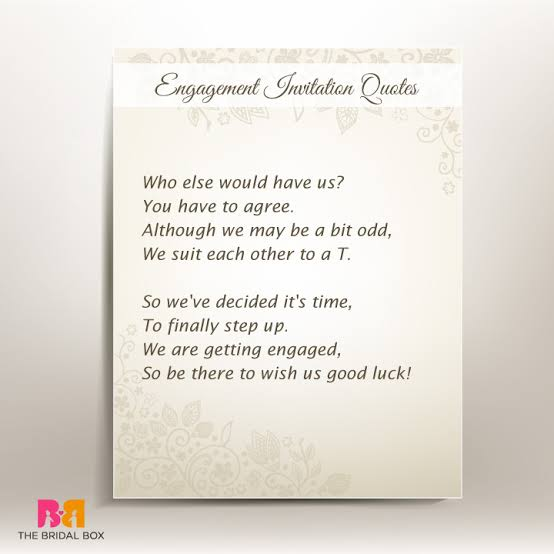 engagement quotes for invitation cards