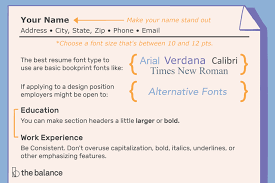 Fonts To Use For Resumes The Best Font Size And Type For Resumes
