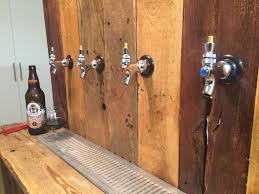 faucets installed on the beer shanks