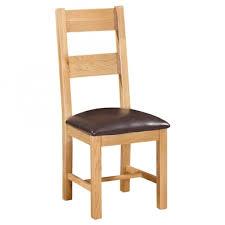 new oak ladder back chair 2 rungs
