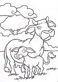 20 Dessins De Coloriage Vache Et Veau Imprimer