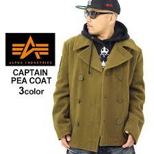 alpha alpha pea coat men mjc43913 the size that alpha industries alpha industry