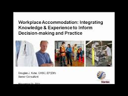 Workplace Accommodation: Integrating Knowledge and Experience to ...