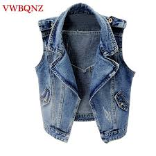 <b>Spring Summer Women</b> Jeans Jacket Short Vest Outerwear Korea ...