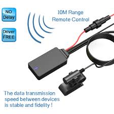 QUANBU 8Pin Wireless Handsfree <b>Bluetooth 5.0</b> Module Aux Cable ...
