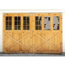 barn sliding garage doors. Ideas, Marvelous Exterior Split Sliding Barn Doors Glass In White Design Ideas: Attractive Garage