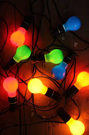 10 metre festoon string lights with coloured led bulbs
