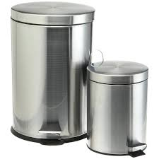 kitchen metal kitchen trash can astonishing 2 pieces plastic garbage cans sets with cook pro