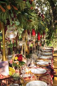 the tablescape features the rich colors of fall to showcase a rustic garden setting photography by vanessa rogers