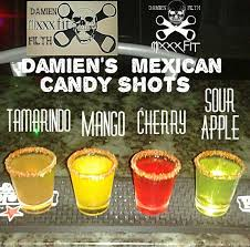 various flavors of my mexican candy shots sweet y shots
