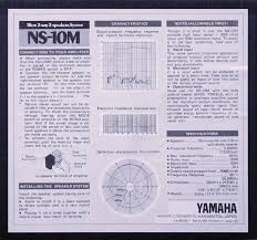 yamaha ns10. although yamaha appear to have included plenty of technical information on the rear panel this ns10