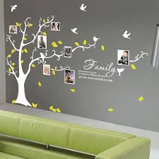 Small Picture tree wall decals with birds and yellow leaves living room