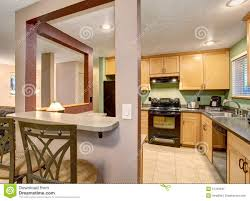 Light Wood Cabinets Kitchen American Light Wood Kitchen Interior Stock Photo Image 57329345