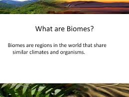 What Are Biomes Chapter 2 Section 4 Biomes Ppt Download